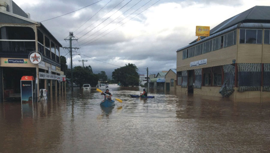 Billinudgel Flood - Main Street.